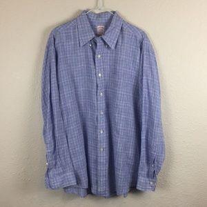Brooks Brothers Irish Linen Long Sleeve Button Up